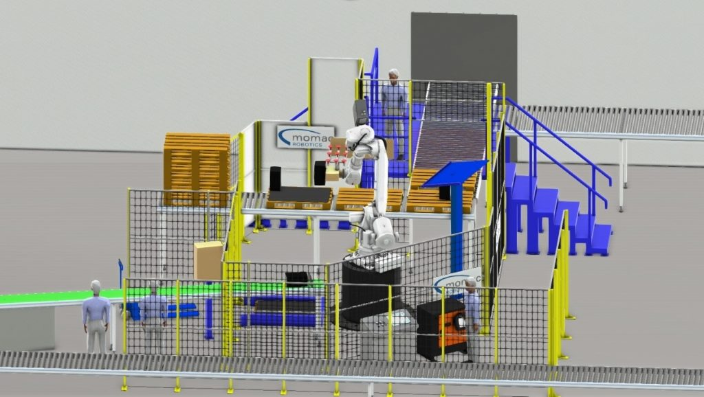 Automatisierte Palettierung von Dachziegeln und Zwischenlagen