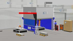 Plasma Schneideanlage automatisierten KUKA Roboter